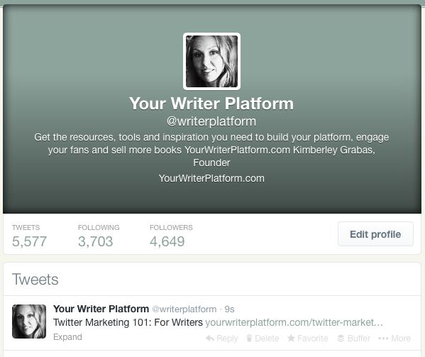 Twitter Profile   YourWriterPlatform