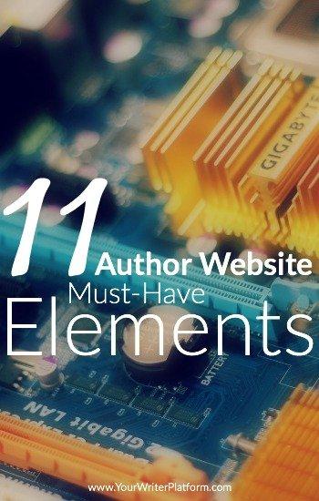 11 Author Website Must-Have Elements | YourWriterPlatform.com