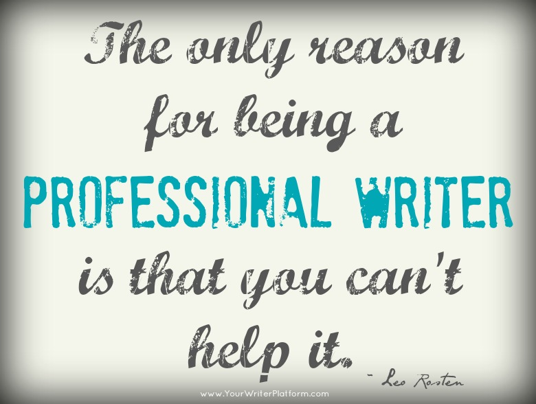 professional writer quote