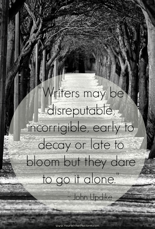 Writers may be...