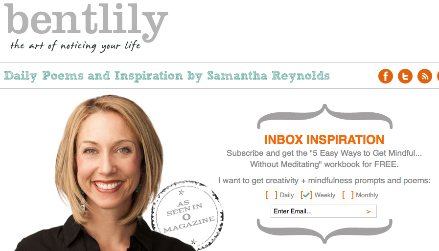 BentLily Email Sign Up