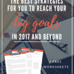 The Best Strategies for You to Reach Your BIG Goals in 2017 and Beyond