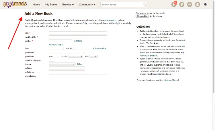 Add a New Book_Goodreads